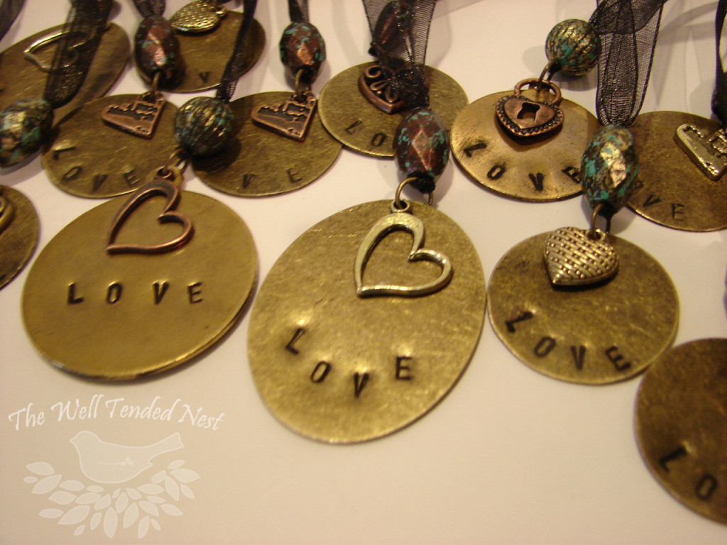 Metal Stamped Necklaces Finished