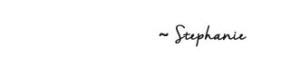 Stephanie signature