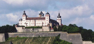 Wurzburg Castle- the view from my upstairs bonus room.