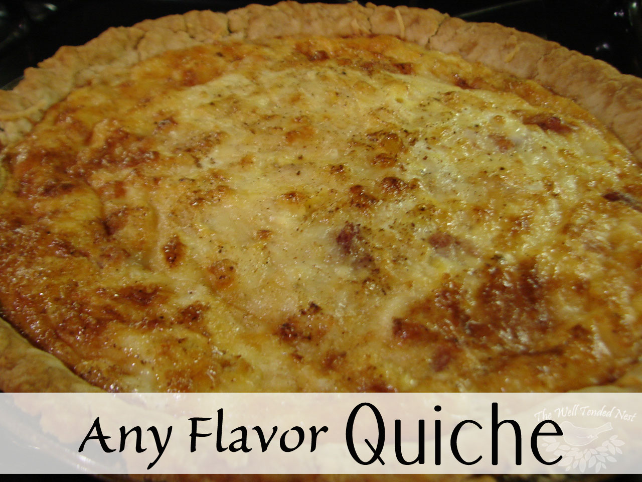 any flavor quiche recipe