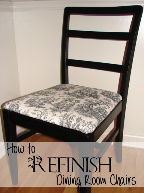 How to refinish dining room chairs recipes home decor for How to redo dining room chairs