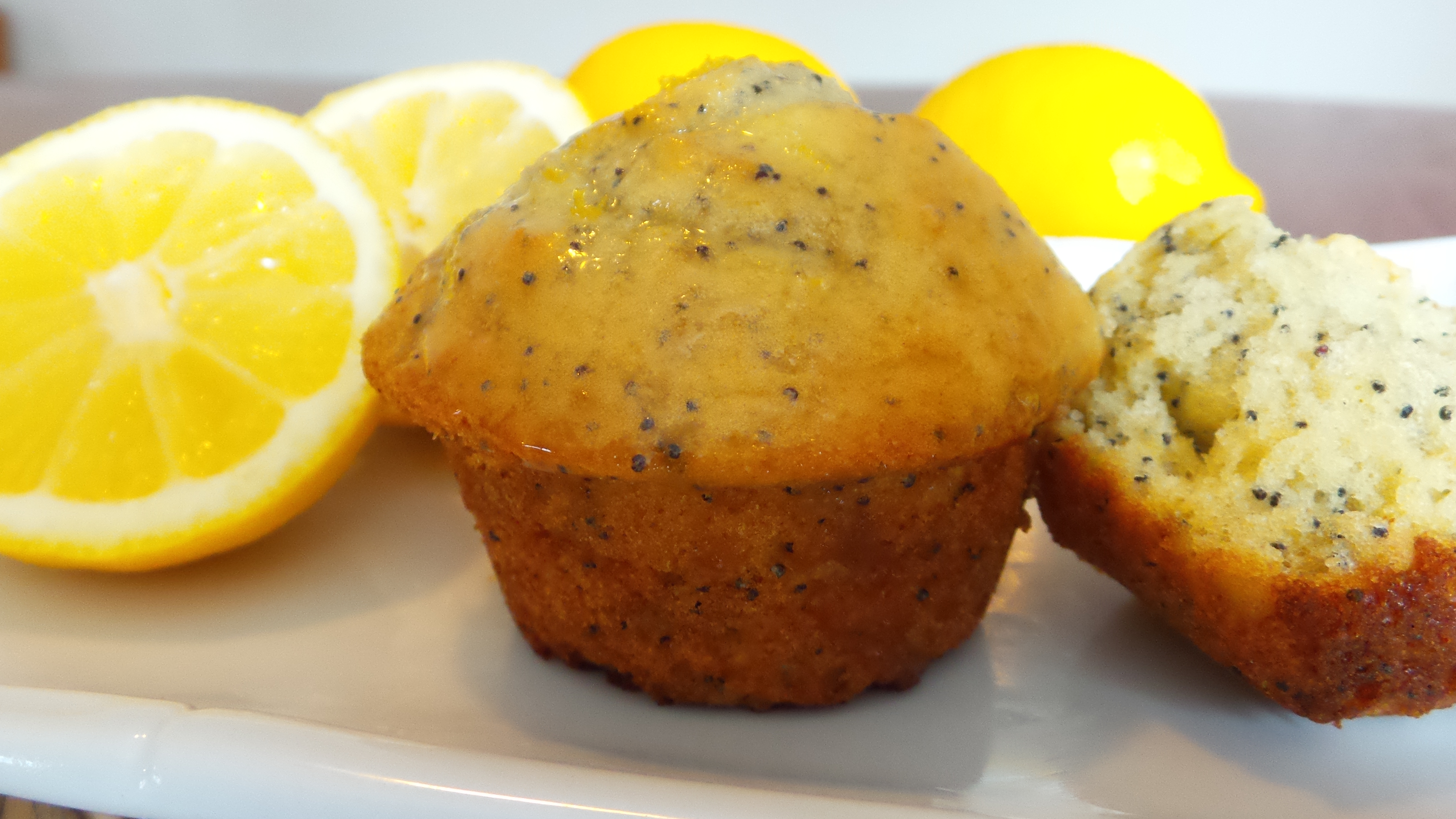 Lemon-Poppy Seed Muffins with Lemon Glaze   Recipes, Home ...